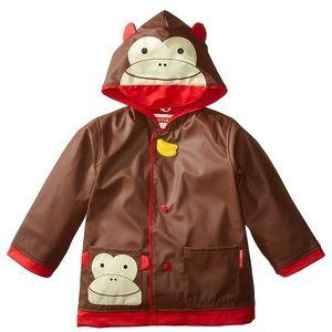 Skip hop zoo monkey raincoat NWT